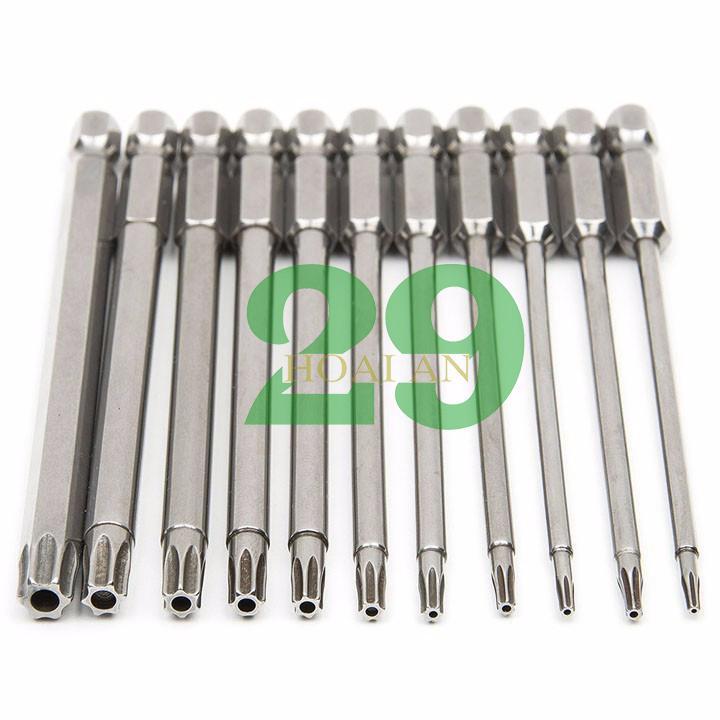 Bộ 11 hoa thị 100mm chân lục giác cho khoan pin, điện hãng PROPEE