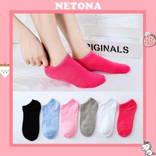 Tất nữ Netona tất nữ cổ ngắn 6 màu đơn giản TN66 thumbnail
