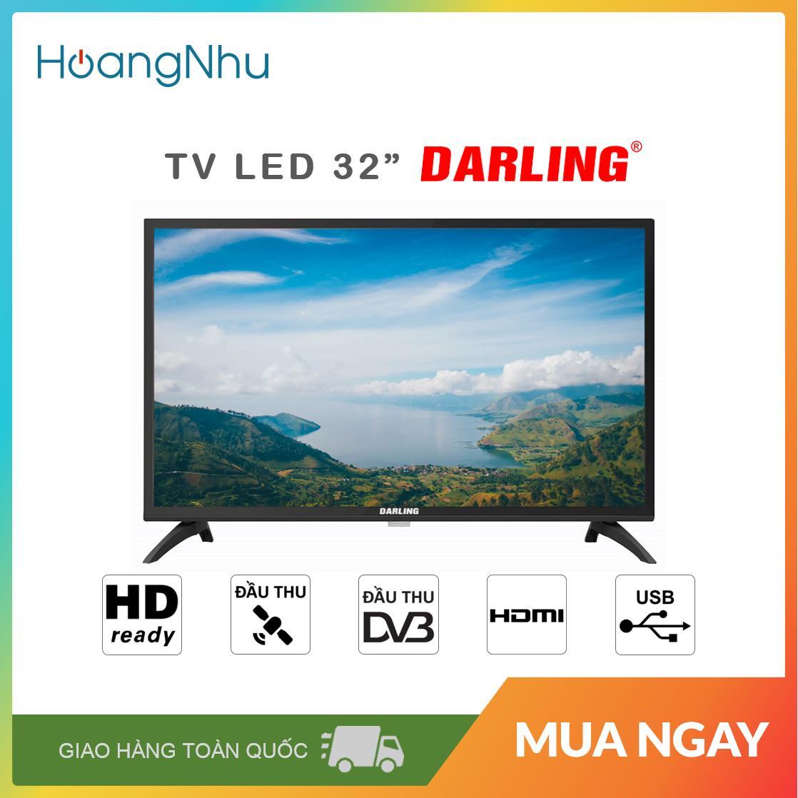 Bảng giá TV LED Darling 32 inch Model 32HD962S2 (HD Ready, Truyền hình KTS) - Bảo hành toàn quốc 2 năm