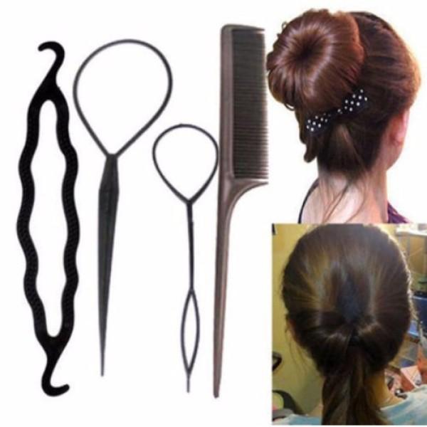 Bộ 4 dụng cụ làm tóc đa năng nhập khẩu