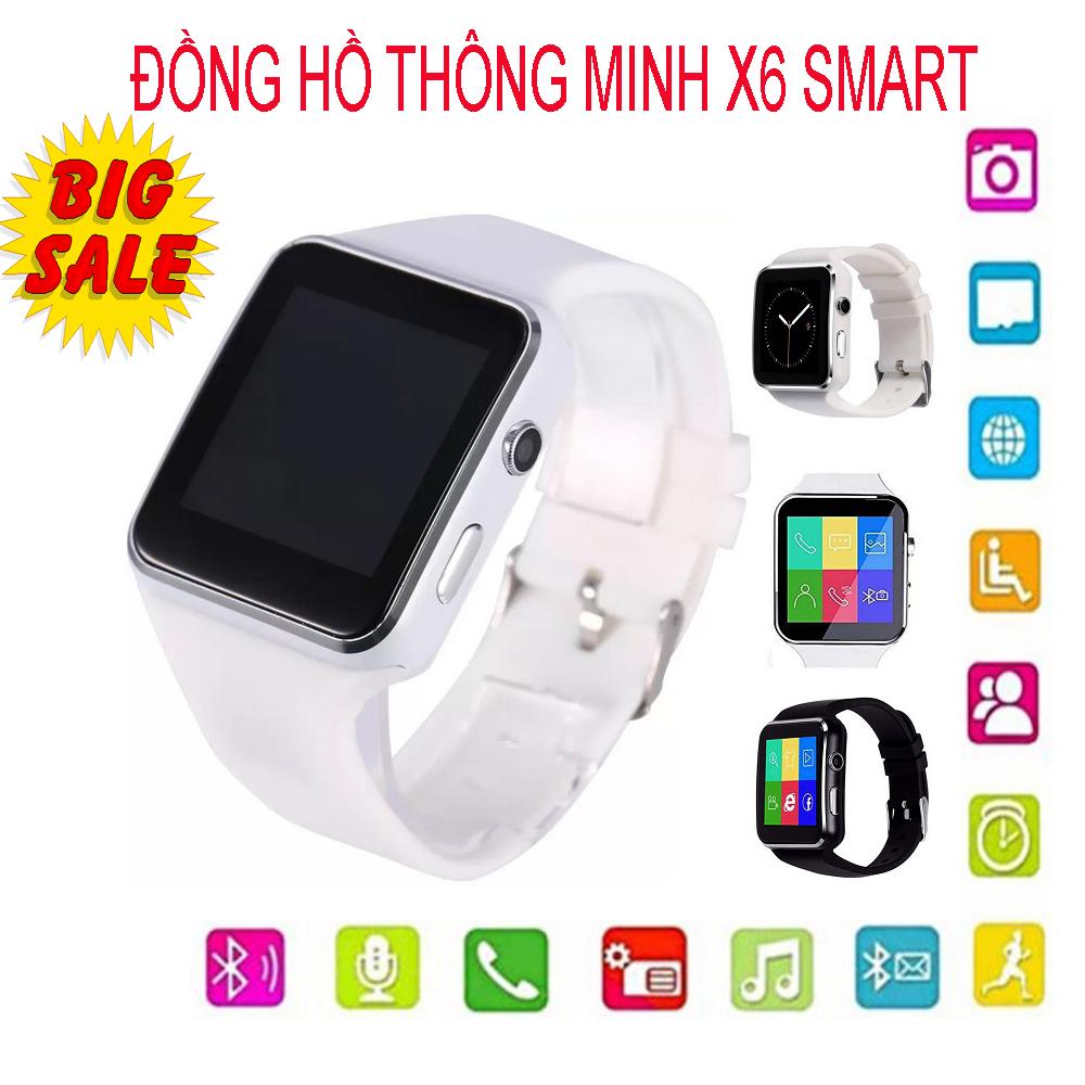 Đồng hồ thông minh Smart Watch X6 Màn Hình Cong Cao cấp, Đồng hồ thông minh Smart Watch X6, Nghe gọi 2 chiều, Tiếng Việt, Đo Nhịp Tim, Theo dõi sưc khỏe, Kết nối bluetooth