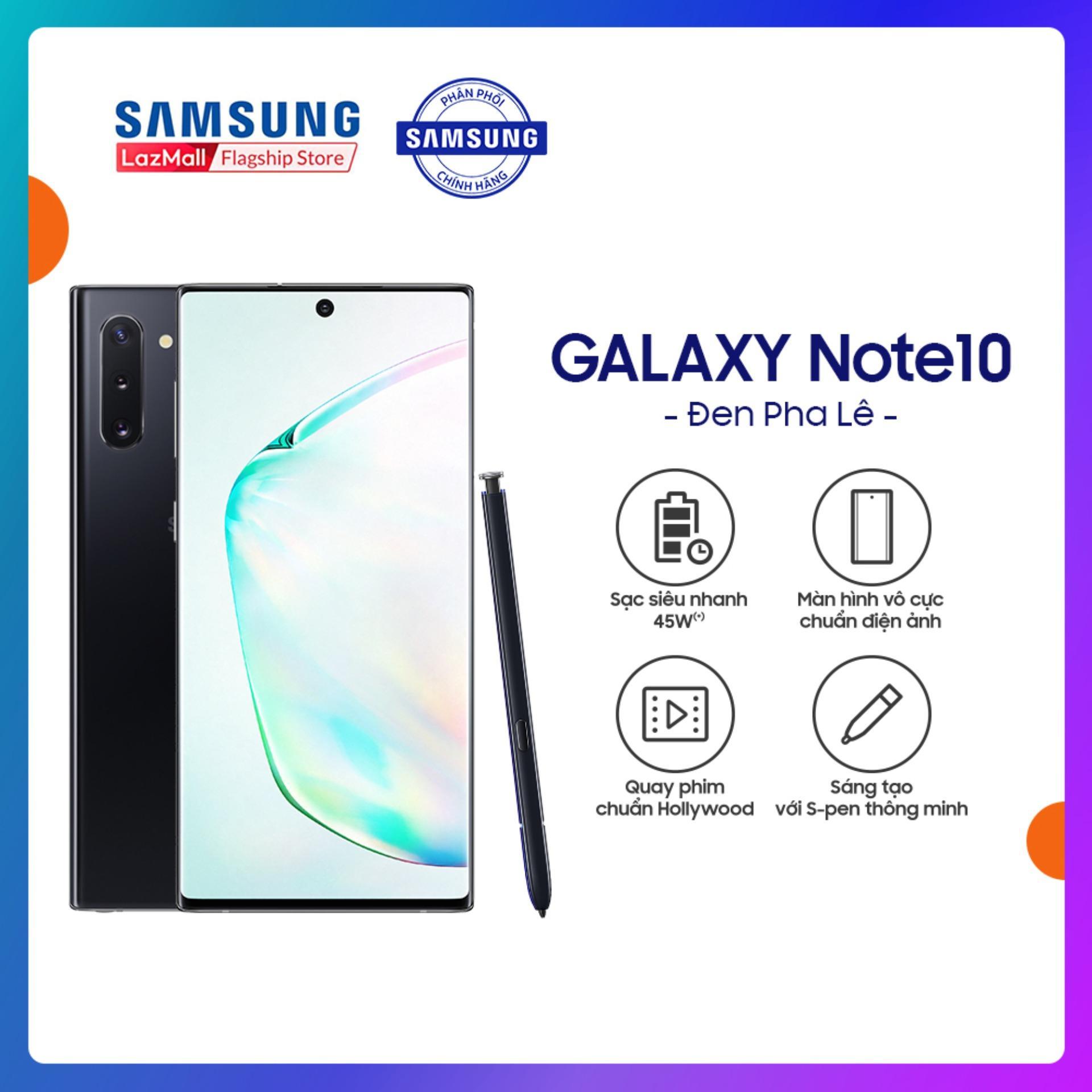 Điện Thoại Samsung Galaxy Note 10 256GB (8GB RAM) - Màn hình tràn viền 6.3 Dynamic AMOLED + Cụm 3 Camera sau + Pin 3500 mAh - Hàng Phân Phối Chính Hãng.