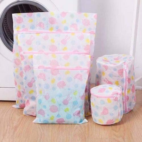 Bộ 5 túi lưới dùng cho máy giặt + Tặng lưới bọc quạt an toàn cho trẻ