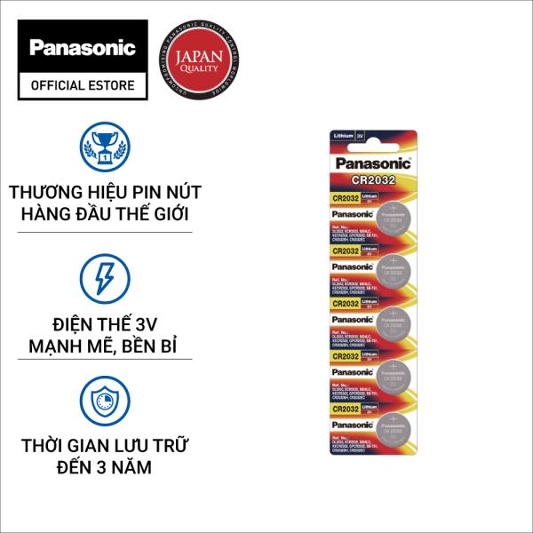 Vỉ 5 viên Pin nút Panasonic 3V CR-2032/5BN - Hàng Chính Hãng