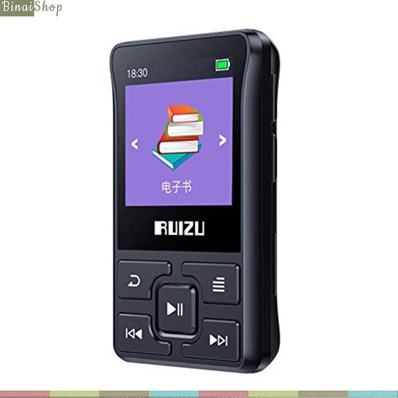 Ruizu X55 - Máy Nghe Nhạc Thể Thao Nhỏ Gọn, Hỗ Trợ Thẻ TF, Buetooth 4.0 (8GB)