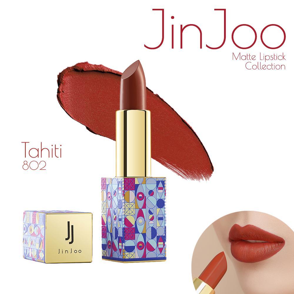 Son lì JinJoo - Đỏ gạch (802) tốt nhất