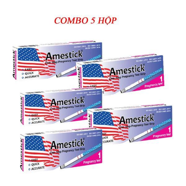 Que thử thai Amestick giúp phát hiện thai sớm -Test chính xác,nhanh chóng,đơn giản - Combo 5 que thử thai giá tốt.