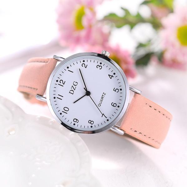 Nơi bán Đồng hồ thời tranh nữ DZG dây da nhung tuyệt đẹp MS855