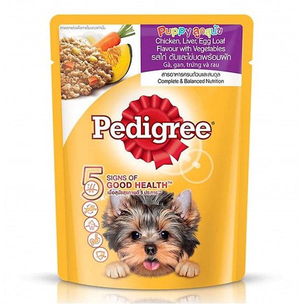 [HCM]Sốt cho chó con Pedigree vị Gà Gan Trứng và Rau