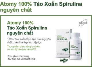 Tảo xoắn Atomy Pure Spirulina hộp 120 viên-VIFASHOP thumbnail
