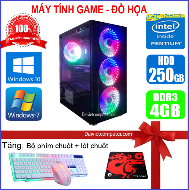 Bảng giá Máy tính PC Game LED CPU Dual Core E7/8xxx / i3-2100 / Ram 4GB-8GB / HDD 250GB - SSD 120GB / VGA 1GB - 2GB chơi PUBG mobile, PUBG lite, LOL, CF đột kích, Fifa, Cs Go, AOE ... + [QÙA TẶNG: Phím chuột Game, bàn di chuột] - LDV Phong Vũ