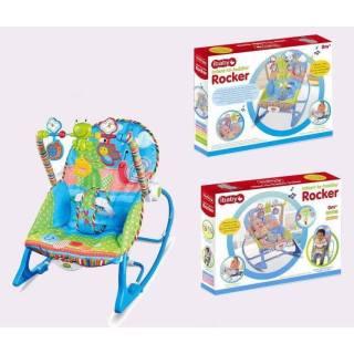 TL Ghế rung nhún cho bé Ghế rung nhún IBaby Rocker - Tiibaby Rocker , Fisher Price dành cho bé từ 0 - 36 tháng có khung đồ chơi hình ngộ nghĩnh cho bé K có nhạc Nôi rung cho bé thumbnail