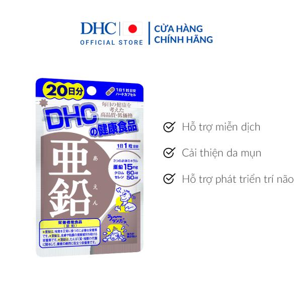 Viên uống Bổ sung Kẽm DHC Zinc Gói 20 Ngày