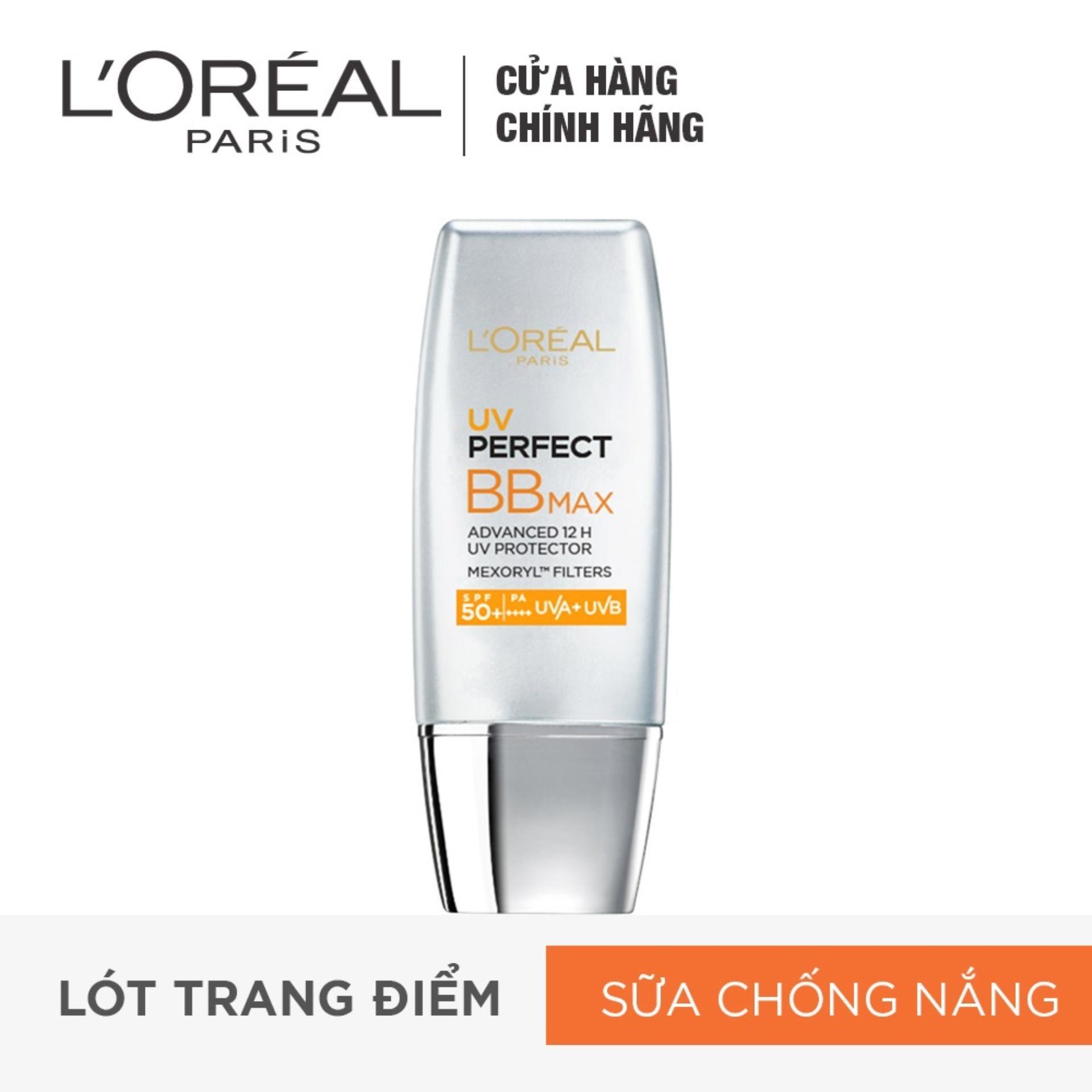 Kem chống nắng trang điểm LORÉAL BB Cream UV Perfect Max SPF 50+ PA+++ 12h 30ml tốt nhất
