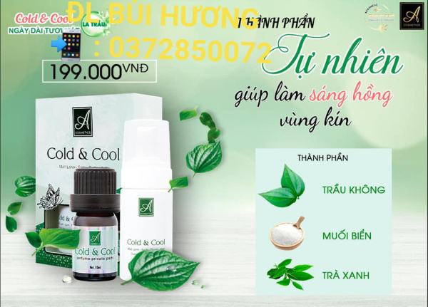 Dung dịch vệ sinh phụ nữ Cold & Cool