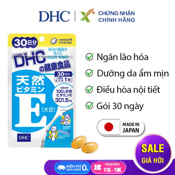 Viên uống Vitamin E DHC Nhật Bản thực phẩm chức năng giúp chống lão hoá, dưỡng da, điều hoà nội tiết gói 30 ngày XP-DHC-E30 giá rẻ