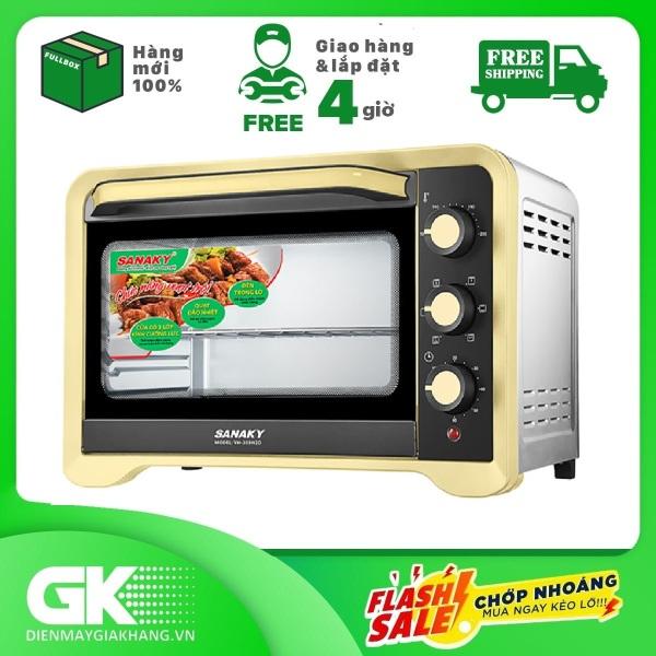 Lò nướng Sanaky VH509N2D - 2000W 50L Vỏ Inox