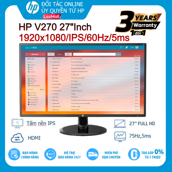 Bảng giá Màn hình LCD HP V270 27Inch 1920x1080/IPS/60Hz/5ms - Hàng chính hãng new 100% Phong Vũ