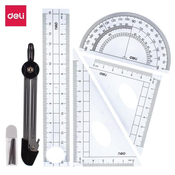 Mua Bộ dụng cụ học sinh DELI - Xanh dương - 6 dụng cụ/1 Hộp - E9609