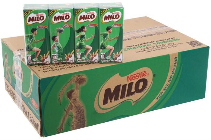 Thùng 48 Hộp Sữa Nestlé MILO Nước (180ml / Hộp)