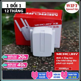 Thiết bị kích sóng wifi Mercury bộ kích sóng cục hút sóng wifi cực mạnh, thiet bi kich song wifi Mercury 3 ăngten giúp mạng phát xa hơn- genk store thumbnail