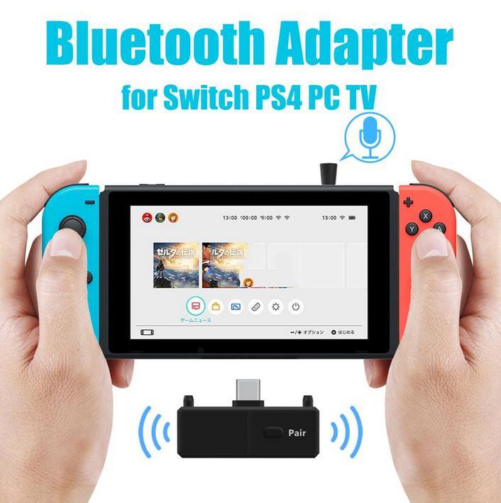 Bộ Chuyển Đổi Âm Thanh Không Dây Bluetooth 5.0 EDR A2DP Độ Trễ Thấp Cho Nintendo Switch PS4 TV PC Trò Chơi