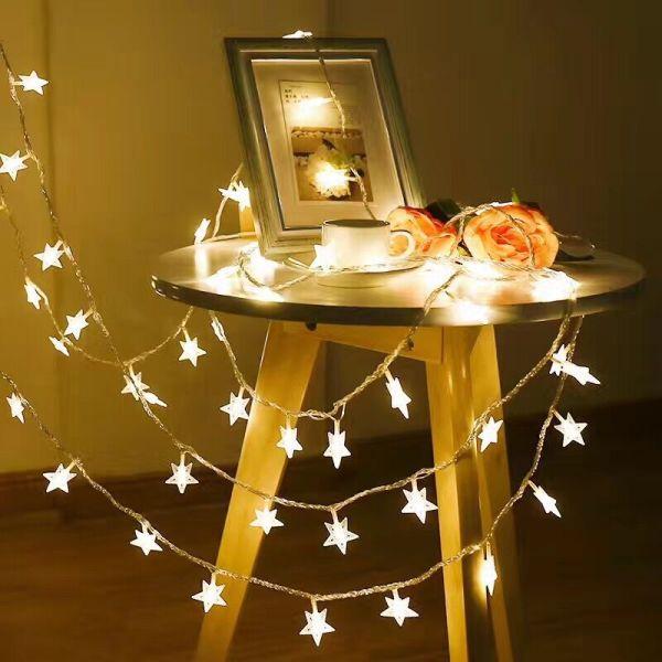 Bảng giá (siêu rẻ ) Đèn led , dây đèn led 2 M  chạy bằng pin ánh sáng vàng ấm, dây đèn  trang trí sự kiện ,sinh nhật