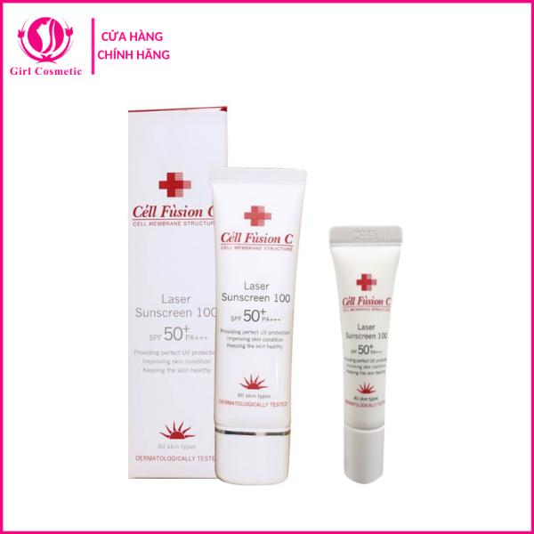 Kem chống nắng Laser Sunscreen 100 Cell Fusion C SPF 50+ PA+++ cho da thường, da nhạy cảm, an toàn và chống nắng cực tốt