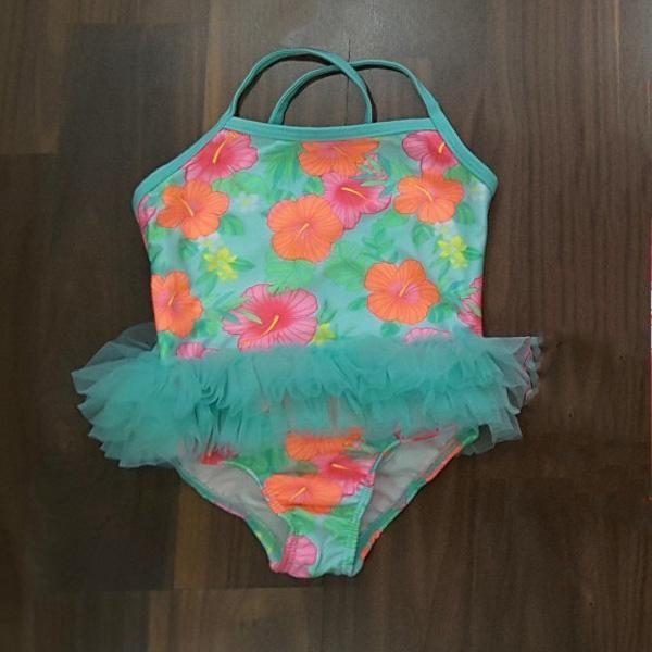Váy đầm bơi Tu Tu hoa xanh bé gái ( hàng xuất xịn) Nhật Bản