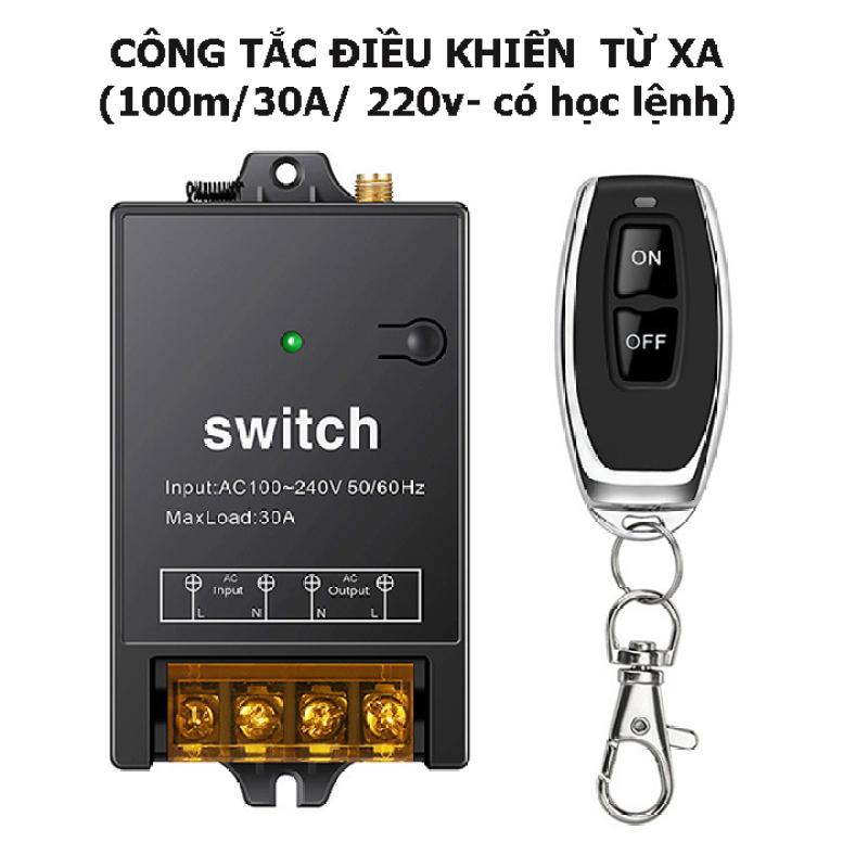 [MẪU MỚI 2021 ] Bộ công tắc điều khiển từ xa rf công suất lớn 100m/3000W/220V-  bật tắt máy bơm nước máy rửa xe, đèn...vvv, công tắc hẹn giờ