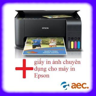 Máy in phun màu đa chức năng Epson L3150 ( In - Scan - Photo - Wifi ) sử dụng mực Hàn Quốc đã có kèm 4 bình mực Hàn Quốc + Khuyến mại 2 tập giấy in ảnh chuyên dụng cho máy in Epson thumbnail