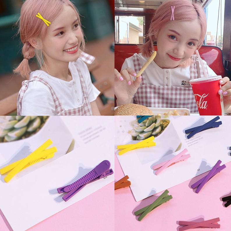 Kẹp tóc Hàn Quốc nhiều màu sắc siêu cute cực dễ thương