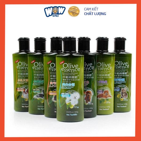 Sữa tắm Olive cho chó mèo [ST03] wowpets dầu tắm chó mèo, Dưỡng lông, Khử mùi, ve rận