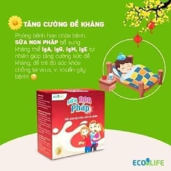 Sữa non Pháp Ecolipe - Cải thiện ăn uống cho trẻ nhỏ,vị thơm ngon,dễ sử dụng tốt nhất