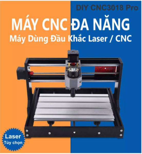 Máy Cắt, Khắc CNC 3018 Pro New + 10 mũi phay PCB + ER11 + 4 kẹp phôi + đĩa chương trình + hướng dẫn Chuyên Dụng