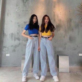 [HCM]Quần baggy nữ mẫu mới quần baggy jeans nữ lưng caoquần ống rộng trẻ trung thiết kế đơn giản cam kết hàng y hình chất lượng MINISHOP2K MN350 thumbnail