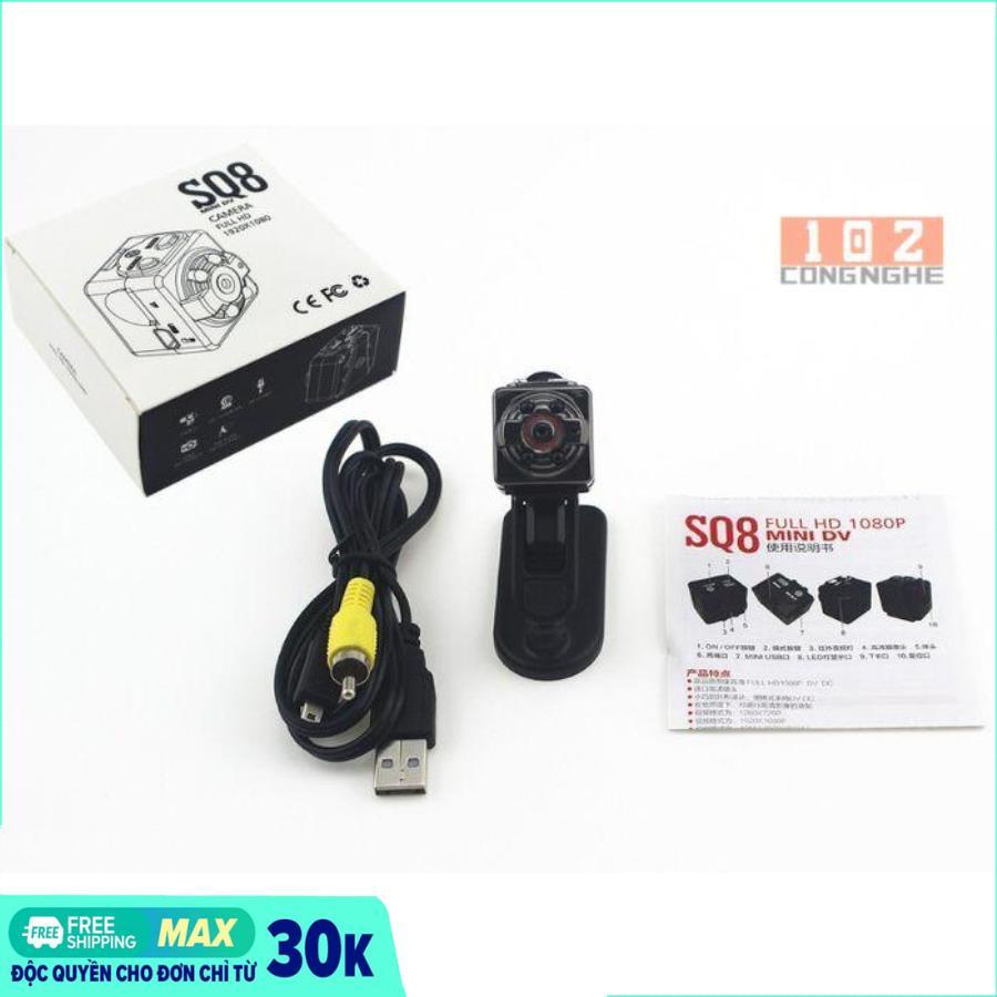 [HÀNG TỐT] Camera mini siêu nhỏ SQ8 HD hình ảnh rõ nét Quay cả ban ngày và ban đêm- camera ô tô (camera Hành trình và kiêm camera an ninh)