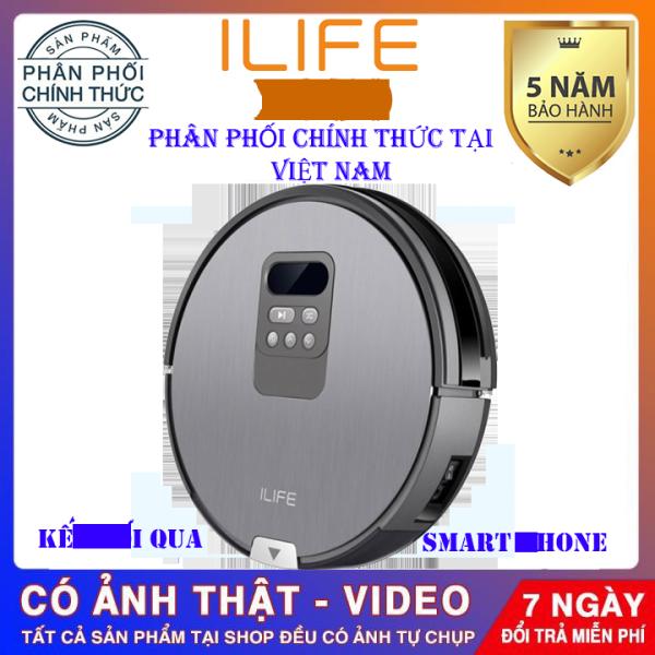 Robot hút bụi,lau thông minh ILIFE X750 MỚI NHẤT 2020,máy hút bụi, lau nhà tự động, kết nối qua điện thoại, điều khiển từ xa, tự động lau chàu dọn dẹp nhà cửa-BẢO HÀNH 5 NĂM