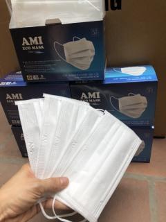 Combo 5 hộp Khẩu Trang Y Tế Than Hoạt Tính 4 lớp màu xám CHÍNH HÃNG AMI (50 chiếc 1 hộp) thumbnail