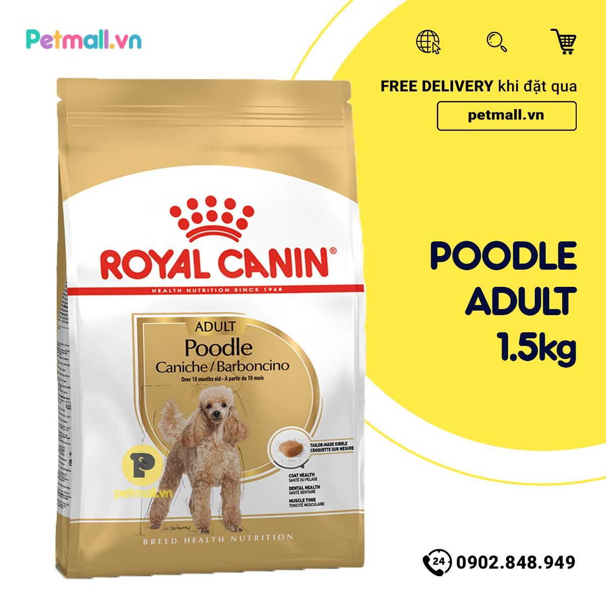 Voucher Giảm Giá Thức ăn Chó Royal Canin Poodle Adult 1.5kg
