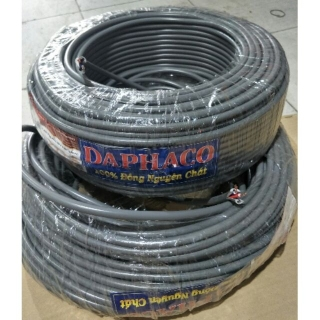 [5m] Dây điện đôi 2x1.5 & 2x2.5 bọc nhựa xám DAPHACO thumbnail