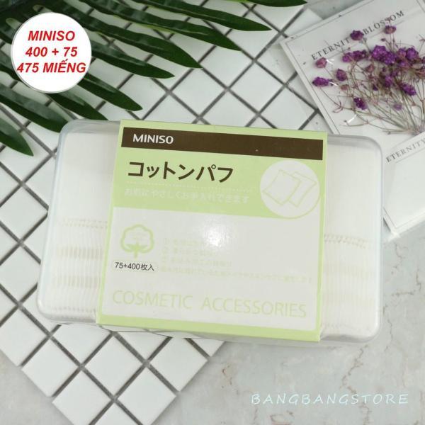 Hộp Bông Tẩy Trang Miniso Nhật Bản 2in1 475 miếng (400 miếng 1 lớp, 75 miếng 3 lớp) giá rẻ