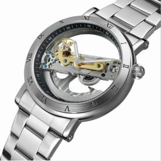 [Fullbox hãng] Đồng hồ cơ nam lộ máy 2 kim Forsining F9005 automatic máy trong suốt thumbnail