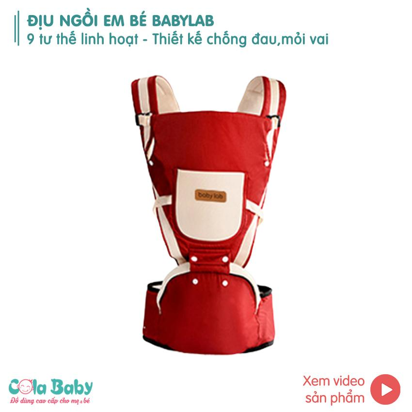 Siêu Tiết Kiệm Khi Mua Địu Em Bé Chống Gù 9 Tư Thế Babylab , địu Nhẹ 0.5 Kg, Chất Liệu Vải Mềm Cao Cấp