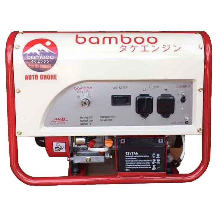 Máy Phát Điện Chạy Xăng 3kw Bamboo 3800E