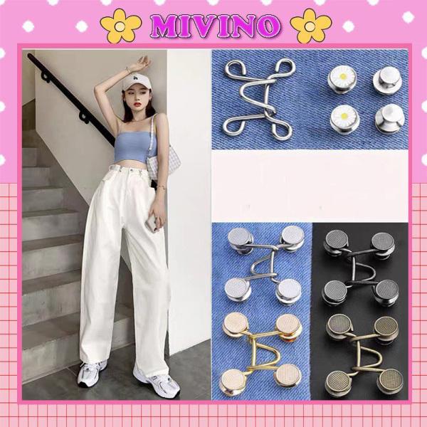 Nút gài Mivino điều chỉnh lưng quần cho nữ thiết kế hình hoa cúc dễ thương PK10