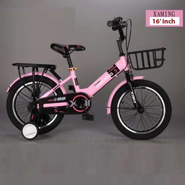Mua Xe đạp trẻ em cao cấp Xaming phù hợp cho bé 4-8 tuổi size 16 inch , có giỏ gác baga và hai bánh phụ (Hồng, Đỏ, Xanh)