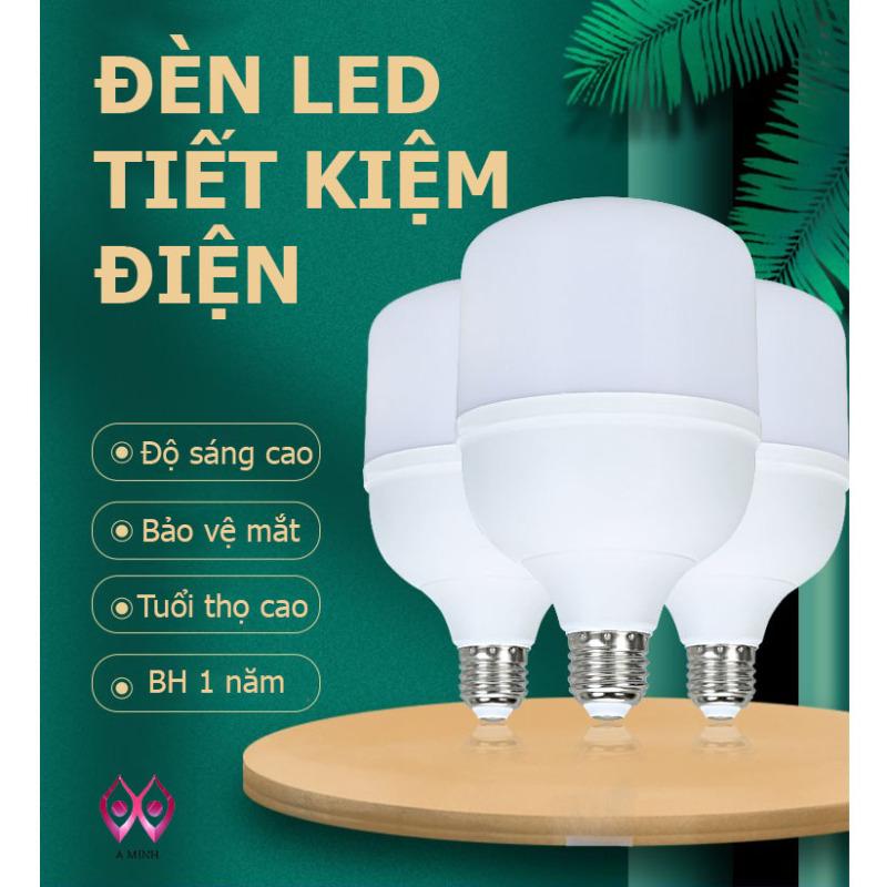 [Hàng Mới] Bóng Đèn Led Trụ  Siêu Sáng Tiết Kiệm Điện TAT Đuôi E27 Á Minh Led Bảo Hành 1 Năm