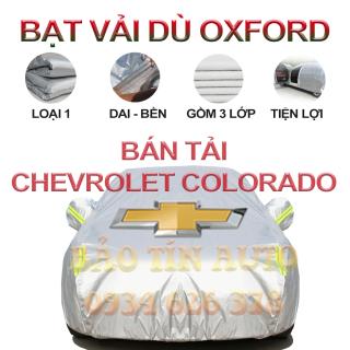 [LOẠI 1] Bạt che kín bảo vệ xe bán tải Chevrolet Colorado 4,5 chỗ tráng bạc cao cấp, vải bông chống xước 3 lớp vải dù Oxford , bạt phủ trùm che nắng, mưa, bụi bẩn, áo chùm bạc trùm phủ xe oto ban tai Bảo Tín Auto thumbnail