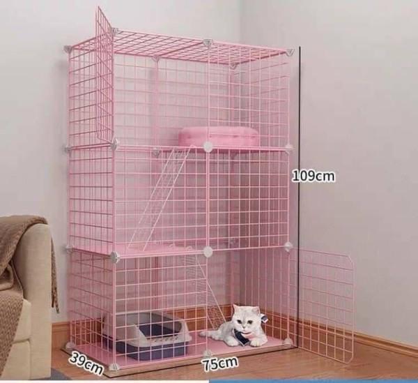 Combo chuồng mèo , Pet, 3 tầng - lắp ghép thông minh .